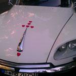 Mal ein anderer schöner Hochzeitsschmuck (15 Herzen auf 's Auto verteilt)