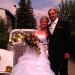 Ein strahlendes Brautpaar - sehr nette Leute!