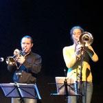 Special guests: Reinhard Greiner an der Trompete und Marion Dimbath an der Posaune