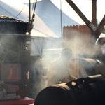 """Der Smoker-Grill neben an sorgte für den """"Nedelmaschinen-Effekt"""""""