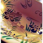 八橋燕子花図皿