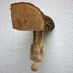 Baselitz auf Brennholz