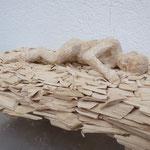 ein Bett aus Spänen