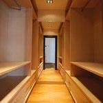 Cabina armadio in rovere sbiancato