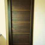Porte in rovere con inserti bronzo