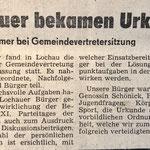 1987: Lochauer bekamen Urkunde