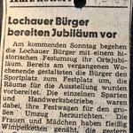 1987: Lochauer bereiten Jubiläum vor