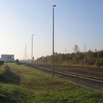 Gleisbereich, leider kein Zug im Bahnhofsbereich