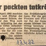 1982: Schüler packen mit an