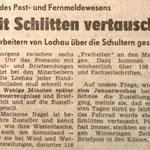 1985: Mit dem Schlitten