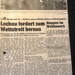 1985: Lochau fordert zum Wettstreit heraus