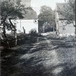 """Blick von der """"Weißen Brücke"""" zum Mühlengrundstück"""
