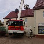 Einsatz zur Umsiedlung der Störche - 23.05.2017
