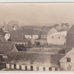 Blick von der Mühle in Richtung Mühlenstraße (vor dem Bau des neuen Hauses)