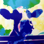 Blauwe koe