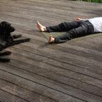Ruhe mit Hund