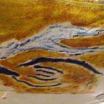 hommage à Suzan Rothenberg et à la Bad Painting acrylique sur drap verso négatif