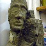 Béton Ville : série des Bustes  mortier teinté dans la masse