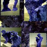Bipolaire: série Chants de Mines, beton teinté dans la masse verre concassé