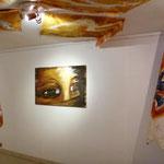 Regard de femme 2 Acrylique, pastel, spray sur toile