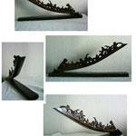 Les Douelles :  douelles de barrique bois projecteur moteur électrique ou bougies