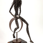 Who I was, I am and I'll be - Size (cm): 30x50x86 - metal sculpture