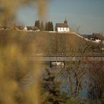 11. Etappe - Blick zur Bergkirche Rheinau