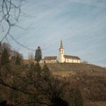 10. Etappe - Berg a. Irchel, Blick zur Kirche Buchberg/Rüdlingen