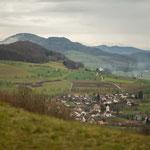 4. Etappe - Oltingen, Untere Sennenweid, Blick auf Oltingen