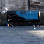 SEAGULL ATTACK - Edinburgh, Hunter Square