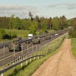 15. Etappe - Wiesendangen, Autobahn A1 bei Lochli