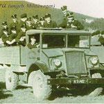 Unra 1948 auf dem Weg zu Wettkämpfen nach Pernitz