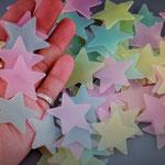 Wand-Sticker Sterne (Nr.17) 100 Stück farbige nachleuchtende Sternen Preis Fr 6.00 pro Set