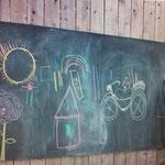 Wand-Sticker Wandtafelfolie (Nr.21)  Grösse 45 X 200cm, inkl 5-teiligem Kreideset (2 x weiss, 1 x blau, 1 x rot, 1x gelb)   Diese tolle Wandtafelfolie macht aus jeder glatten Fläche eine Schultafel, ideal für Notizen, zum Zeichnen oder zum Basteln!  Einfa