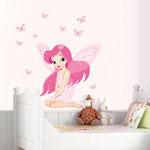 Wand-Sticker Elfe (Nr 2) Grösse vom Bogen ca 50 x 70cm Die Sticker sind einzeln abnehmbar, so kann das Bild nach den eigenen Wünschen gestaltet werden. Preis: Fr 12.-