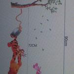Wand-Sticker Winnie Pooh Baum (Nr.10) Grösse Bogen 66 X 30cm Bild 90 X 50cm Fr 15.-