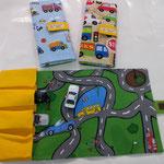 """Suprt Praktisch für unterwegs! Autospiel-Etui aus Stoff, ideal zum mitnehmen für die Autos und zum spielen! Passt in jede Handtasche """"wink""""-Emoticon  Fr 34.-"""