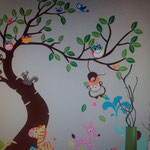 Wand-Sticker Lustige Tierwelt (Nr.19) Grösse 189 x 143cm   Die Sticker sind einzeln abnehmbar, so kann das Bild nach den eigenen Wünschen gestaltet werden. Preis Fr 24.00