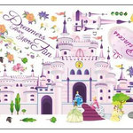 Wand-Sticker Märchenschloss (Nr.14) Grösse Bogen 60 X 90cm Bild 100 X 85cm Preis Fr 20.00