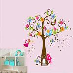 Wand-Sticker Feen-Baum (Nr.13) Grösse Bogen 60 X 90cm Bild 130 X 120cm Preis Fr 22.00