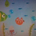 Wand-Sticker Fische (Nr.16)  Grösse Bogen 44 X 25cm   Die Sticker sind einzeln abnehmbar, so kann das Bild nach den eigenen Wünschen gestaltet werden.  Preis Fr 6.00