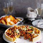 Tarte aux champignons, marrons et cranberries. Jamie Oliver