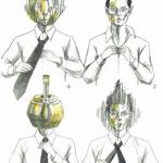 ネクタイを結ぶ  ©2015 ako sato.