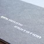Heißfolienprägung Silber auf Graukarton