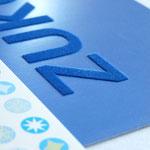 Mailing-Postkarte mit Beflockung