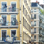 gemalte und reale Balkone - 9 Punkte