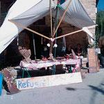 """05.09.2009: """"Refugio Vegetariana"""" von Marcel in """"La Fabia"""", Marcel kocht für Rachel und mich"""