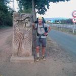 "11.09.2009: Ankunft am Stadtrand von ""Santiago de Compostela"""