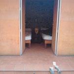 """03.09.2009: Zimmer Nr. 41: Allein in einem """"luxuriösen"""" Zweibettzimmer in  """"Cacabelos"""""""