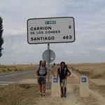 24.08.2009: Auf der längsten Etappe (43km) zusammen mit Luca